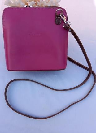 Vera pelle made in italy маленькая маленькая итальянская кожаная сумка с крестом плеча