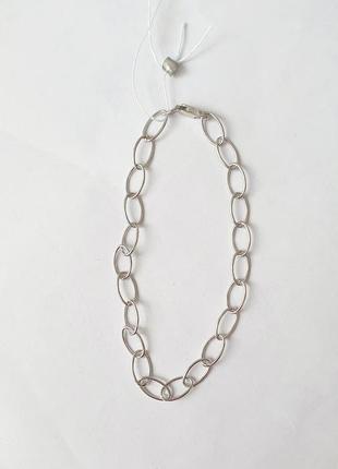 Серебряный браслет в стиле минимализм, облегчённый.