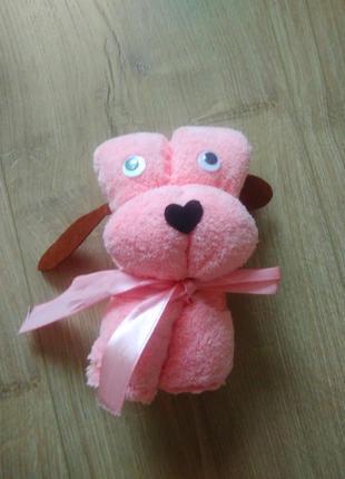 Подарункове полотенце у формі собачки/ подарочное полотенце /мікрофібра