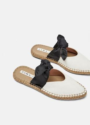 Zara туфли шлепки мюли еспадрили