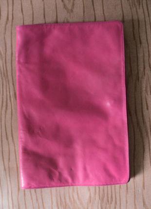 Клатч кожаный натуральная кожа розовый сумка маленькая кошелек актуальный цвет