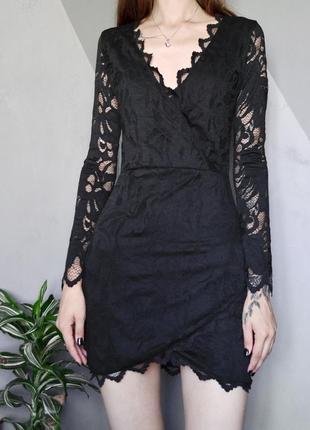 Красивое кружевное платье с длинным рукавом h&m нюансы