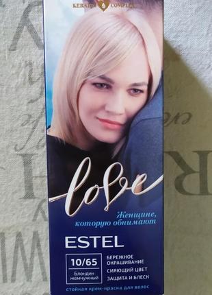 """Краска для волос estel, """"жемчужный блондин"""" 10/65"""