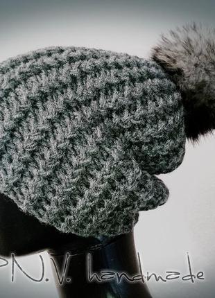 Новогодняя распрдажа! зимняя шапка объёмный узор