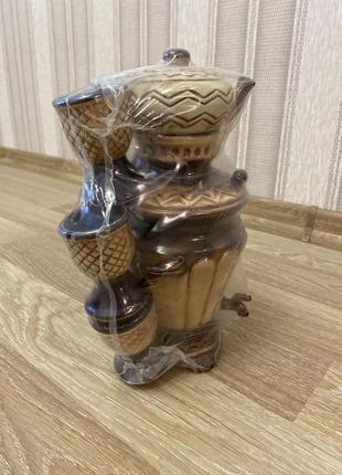 Отличный подарок сервиз набор из глины чайный, кофейный недорого