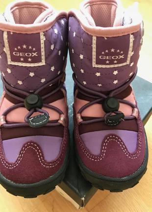 Зимние ботинки geox джеокс 23р. светящиеся
