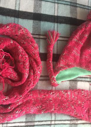 Набор шапка шарф adidas
