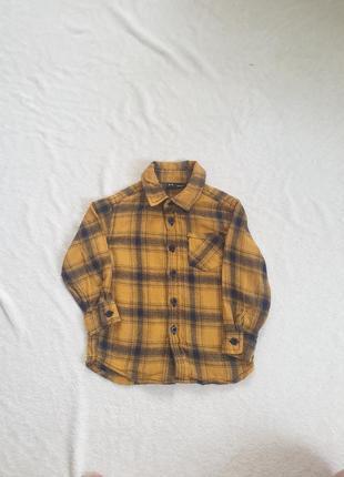 Фланелевая рубашка для мальчика  2,3 лет
