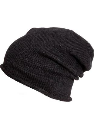 H&m  трикотажная шапка шерсть