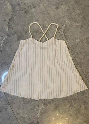 🆘🔥все по 100грн ликвидация 🆘🔥      белая блуза  в полоску на  бретелях