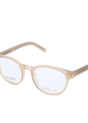 Новая оправа saint laurent очки премиум made in italy прозрачная нюд лоран ysl унисекс