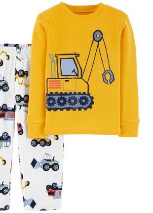 Carters новые флисовые пижамы пижамки 2 3 4 5 6 7 8