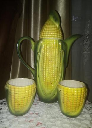 """Графин с чашечками """"кукурузка """""""