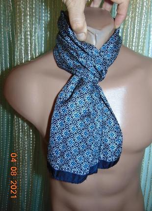 Стильний нарядний фирменний шарф шелк .next некст