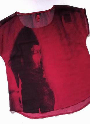 Полупрозрачная футболка, майка, топ, блузка, блуза, сорочка