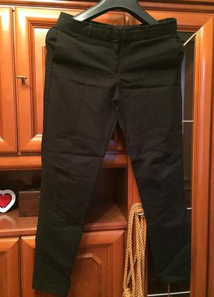 Котоновые классические брюки-лосины р38(10)