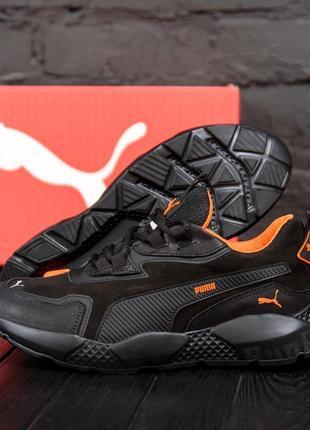 Мужские кроссовки из натуральной кожи puma st runner(40-45р)
