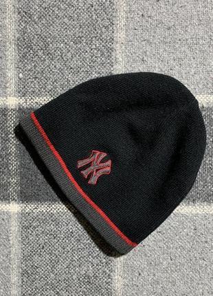 Детская двусторонняя шапка (идеал оригинал черно-серая)