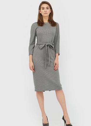 Платье миди элегантное сзади вырез на поясе приталеное cardo