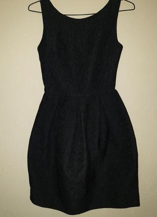Стильное, красивое женское платье черное xs, s 34, 36 6,8