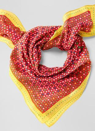 Яркий.мягкий  платок, шаль из хлопка tchibo tcm