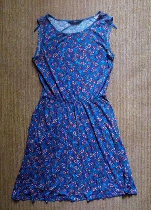 Голубое платье с цветочным принтом f&f