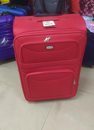 Чемодан,чемодан среднего размера ,на 2 колесах