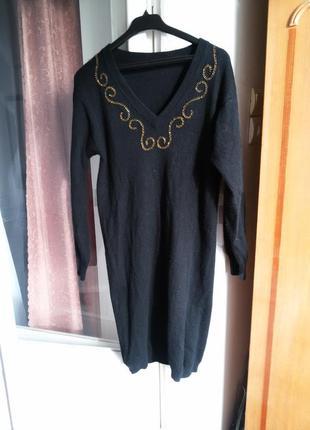 Теплое шерстяное платье с ангорой / 70% шерсть, 20% ангора, 10% нейлон