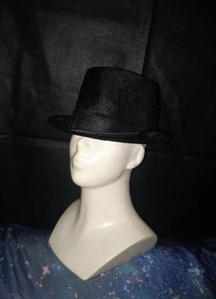 Карнавальная шляпа цилиндр бархат велюр