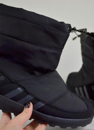 Зимние ботинки adidas черного цвета 36,37,38,39,40,41 рр.