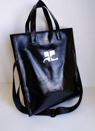 Кожаная сумка, сумка кожаная на плечо, очень вместительна
