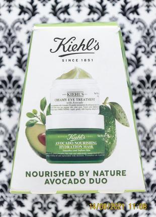 Супер набор kiehl's avocado duo : крем kiehls для глаз и маска kiehl's c авокадо