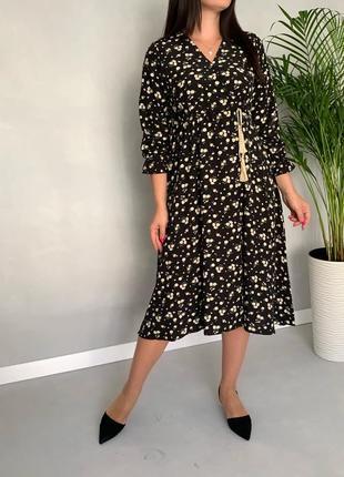Платье миди в цветочный принт/сукня міді в квітковий принт