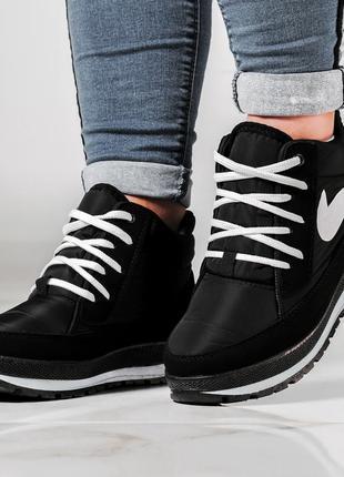 Ботинки женские кроссовки на меху утепленные (бт-6н)