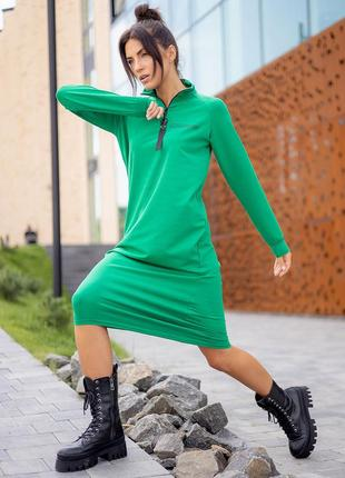 Ефектна красива зручна спортивна сукня, плаття реглан міді