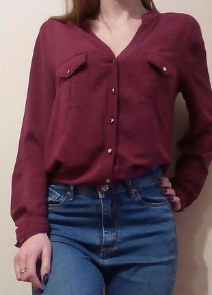 Блуза с шифоновой спинкой