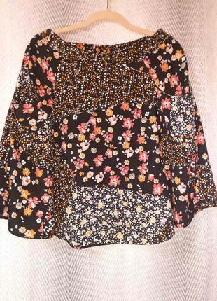 Женская пляжная летняя вискозная юбка в стиле пэчворк. 100% вискоза