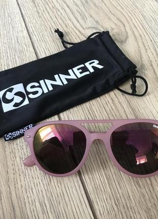 Очки sinner , матовые розовые очки