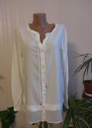 Оригинальная белая блуза tom tailor