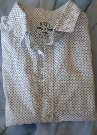 Рубашка с коротким рукавом от f&f