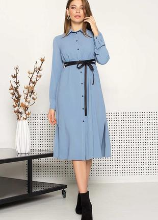 Платье-рубашка длиной миди