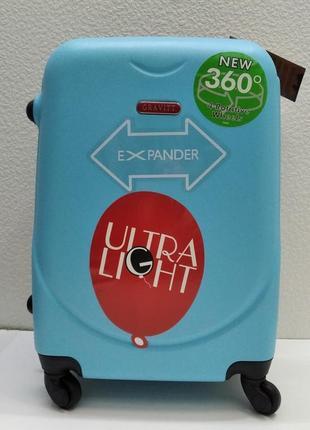 Дорожный пластиковый чемодан cravitt маленький (голубой) 21-08-031
