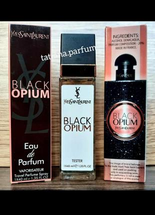 Black opium тестер 40 ml, мини парфюм, парфюмированная вода, туалетная вода, духи