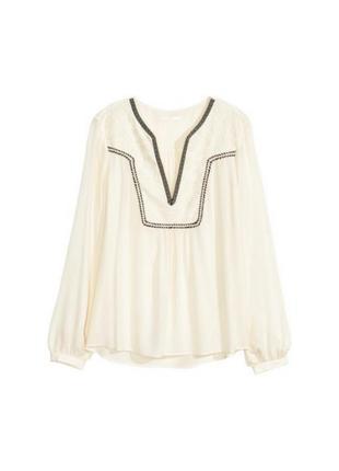 Молочная блузка с вышивкой вышиванка бохо