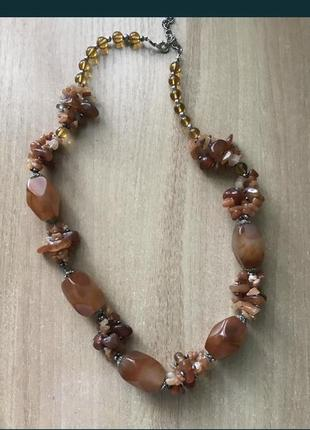 Ожерелье бусы из натурального камня индия