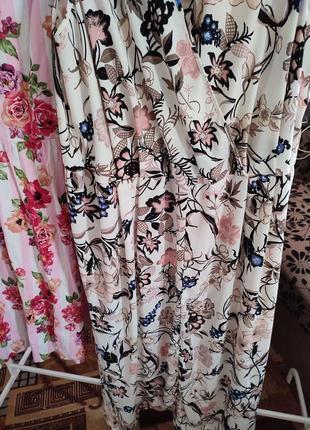 Платье сарафан в цветочный принт макси