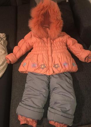 Зимний комбинезон кіко, на девочку 3 года