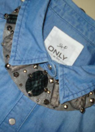 Джинсовая рубашка безрукавка only