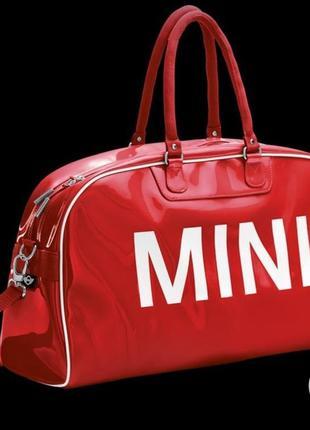 Крутая брендовая дорожная сумка mini red bmw