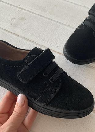 Туфли кожаные чёрные детские